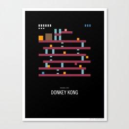 Minimal NES - Donkey Kong Canvas Print