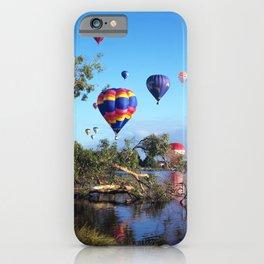 Hot air balloon scene iPhone Case