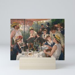 Luncheon of the Boating Party Painting, Pierre-Auguste Renoir Mini Art Print