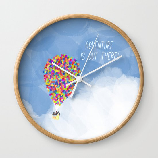 ADVENTURE IS OUT THERE! Wall Clock