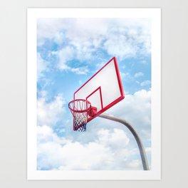 Basketball Court   Venice Beach, Los Angeles, California Art Print
