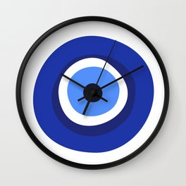 evil eye symbol Wall Clock