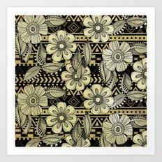 Floral Ink Art Print