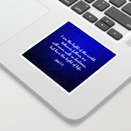 Light of the World - Bible Verse Galaxy Version Sticker