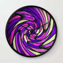 chromatic swirl II Wall Clock