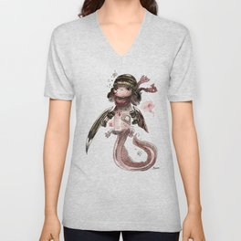 Axolotl Barbare Unisex V-Neck