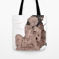 thorin Tote Bags featuring Bilbo & Thorin by NON6