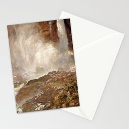 Yoho Falls by John Singer Sargent - Vintage Fine Art Oil Painting Stationery Cards