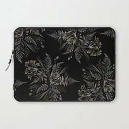 Ferns and Parrot Tulips - Black Laptop Sleeve