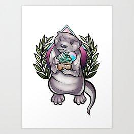 Otterrific Art Print