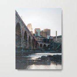Minneapolis Minnesota Skyline Sunset Metal Print