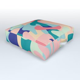 Summer Vibes Pattern Outdoor Floor Cushion