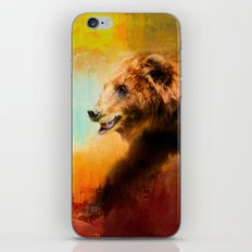Colorful Expressions Grizzly Bear iPhone & iPod Skin