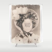 mad Shower Curtains featuring MAD by Oddworld Art