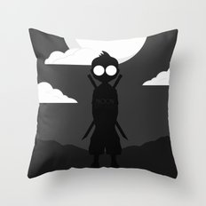 Moon Picker Throw Pillow