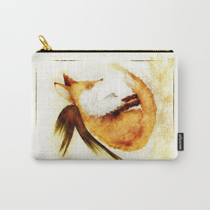 Winged Fox Sleeping Carry-All Pouch