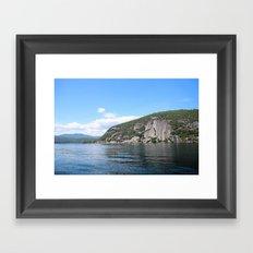 Roger's Rock on Lake George in the Adirondacks Framed Art Print