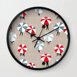 On a rainy day pattern Wall Clock