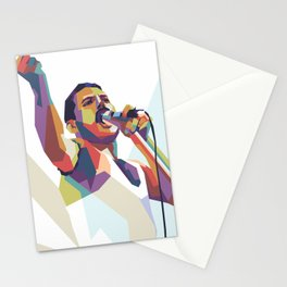 Queen vocalist iconic pose Stationery Cards