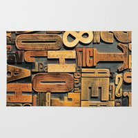 letters Area & Throw Rugs featuring Letters by Bekare Creative