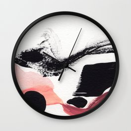 Blush Abstract Art Wall Clock