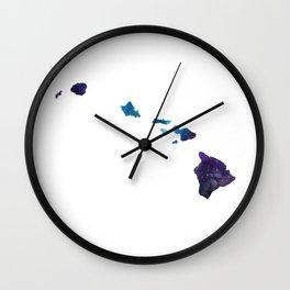 Hawaii State Galaxy Art Print Wall Clock