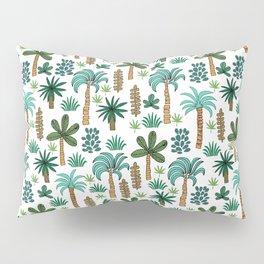 Tropics palm trees pattern print summer tropical vacation design by andrea lauren Pillow Sham