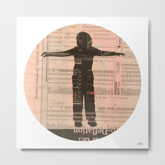 Untitled Boy 3 Collage Metal Print