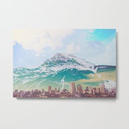 aqua mountain Metal Print