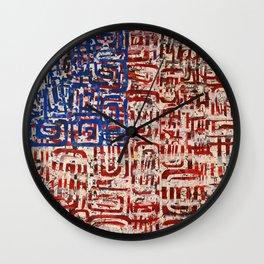 Flag Circels Wall Clock