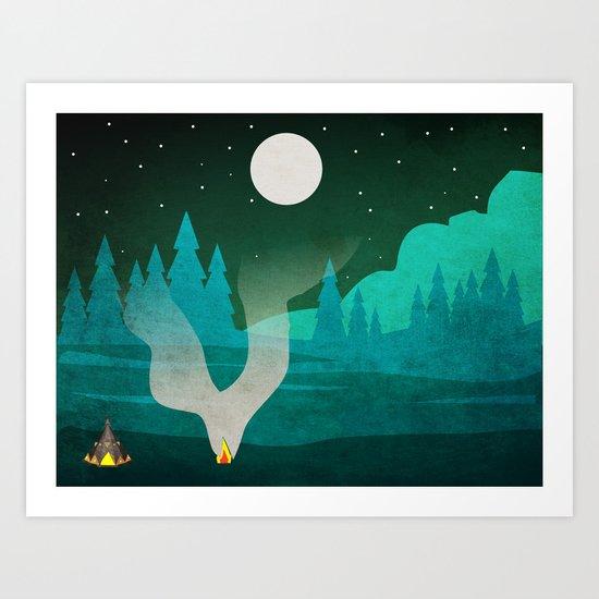Camping Art Print