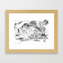 Partie de pêche / Fishing Framed Art Print