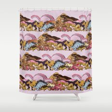 Jurassic Sweet | Deluxe Edition Shower Curtain
