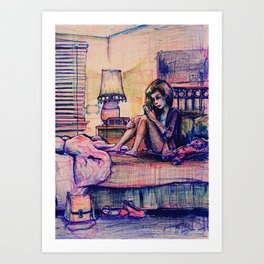Ambivalent Unrequited Love Art Print