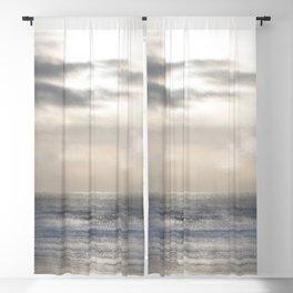 Silver Scene ~ Ocean Ripple Effect Blackout Curtain