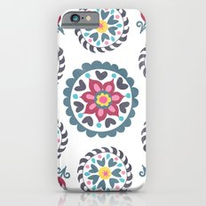 Suzani inspired floral blue 3 iPhone 6s Slim Case