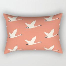 Tundra Swan (Amber) Rectangular Pillow
