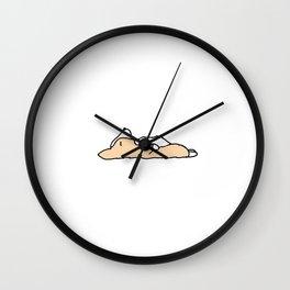 Sleeping Corgi Dog Wall Clock