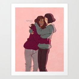 Girlfriends in hoodies Kunstdrucke