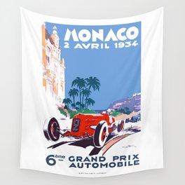 1934 MONACO Grand Prix Racing Poster Wall Tapestry