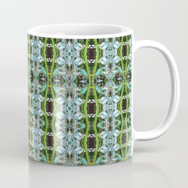 Jade Hearts Stained Glass Patten Coffee Mug