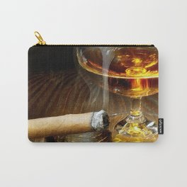 Cigar And Cordial Painting Cigars Carry-All Pouch