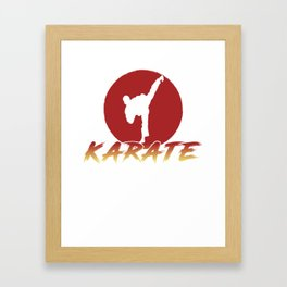 Karate Fighting Present Gift Self Defense Framed Art Print