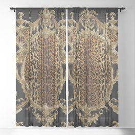 Leopard Chinoise Sheer Curtain