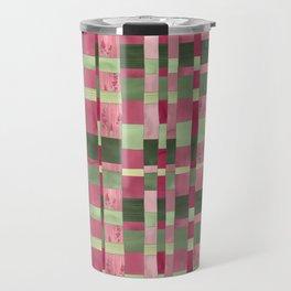 Weaver's Dream / Geometric Meets Floral Travel Mug