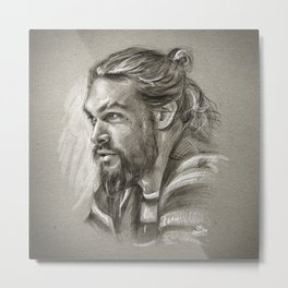 Jason Momoa portrait - A happiness to wonder, a happiness to dream Metal Print