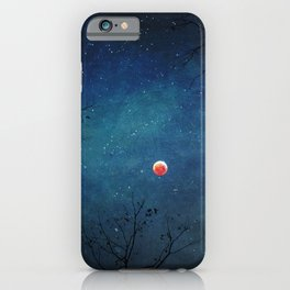 Blood Moon Through Trees iPhone Case
