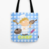 chef Tote Bags featuring Chef by Alapapaju