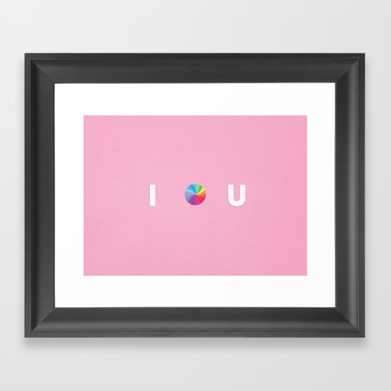 I .... U Framed Art Print