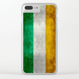Flag of Ireland, Vintage retro style Clear iPhone Case